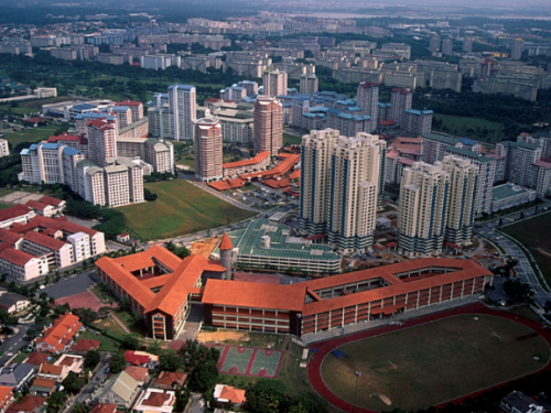 Aerial view of bishan. picture credits to hdb