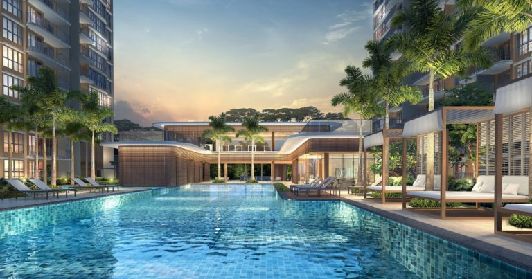 Swimming pool in Hundred Palm Residences