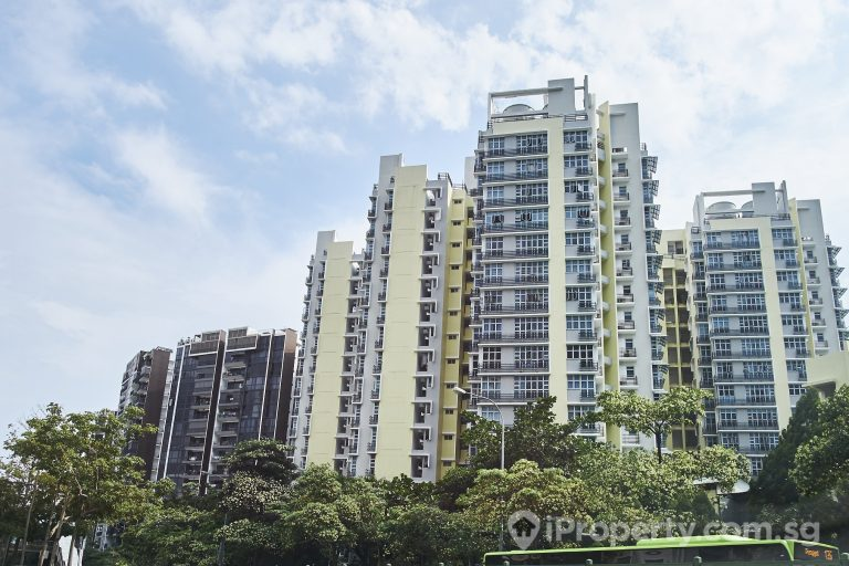 view of the HDB buildings in Punggol, Singapore