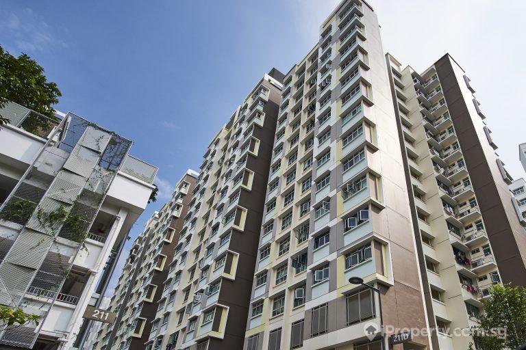 Brown Building HDB in Punggol singapore.