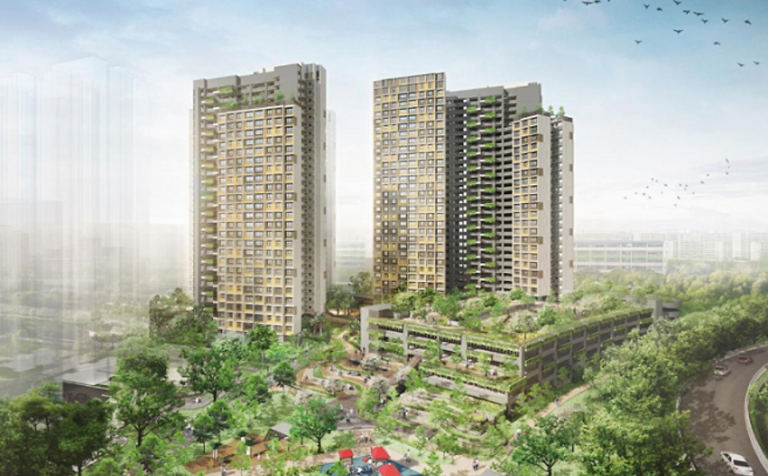 Artist impression of Kim Keat Beacon in Toa Payoh. Picture by HDB showcasing the BTO.