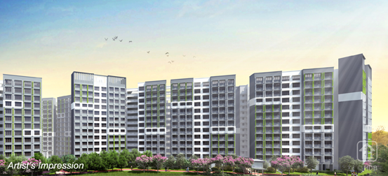artist impression of the new development under HDB's BTO, Melody Spring in Yishun