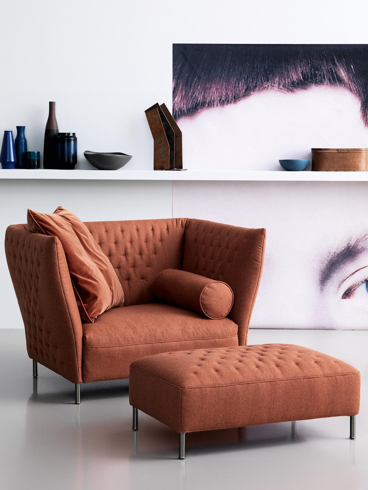 Rust armchair go modern furniture