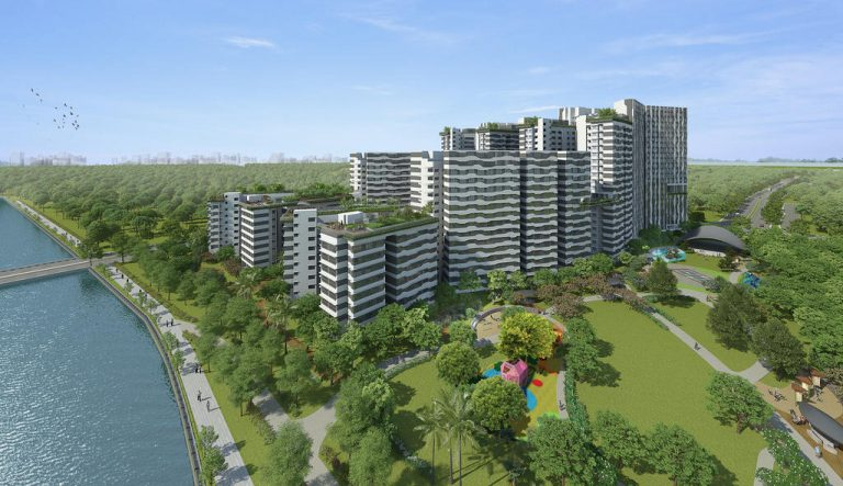 Artist impression of the Punggol point cove.