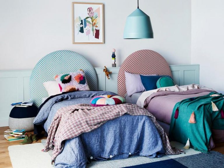 Bright colours are welcomed in kids' bedrooms. Picture: Heatherly Design