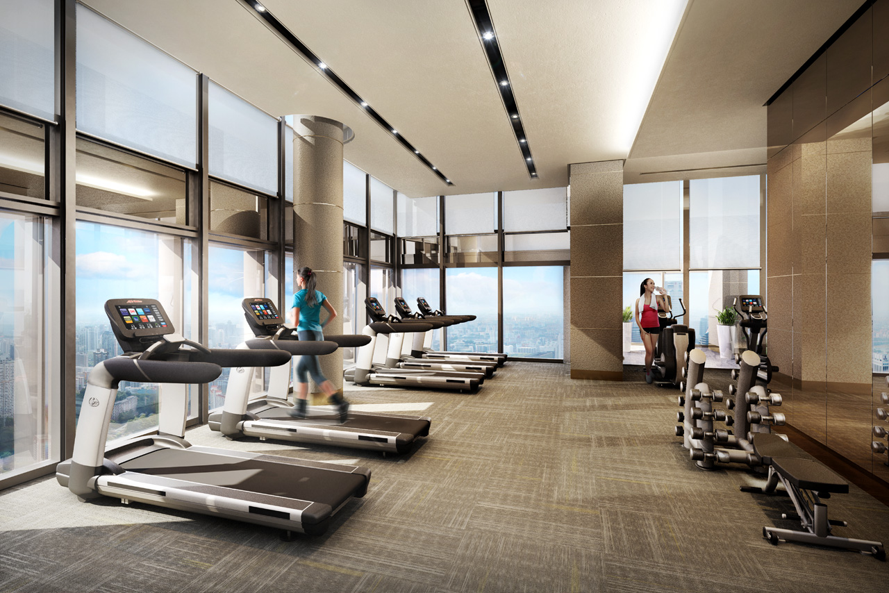 Condos with amazing gyms exercise zones built in or nearby