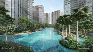 Lap Pool, The Florence Residences Condo.