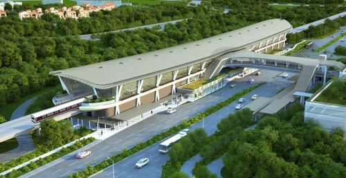 Artist Impression of Canberra MRT Station. Picture: LTA