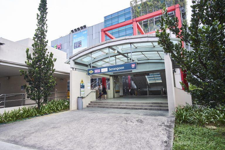 Serangoon MRT Station.