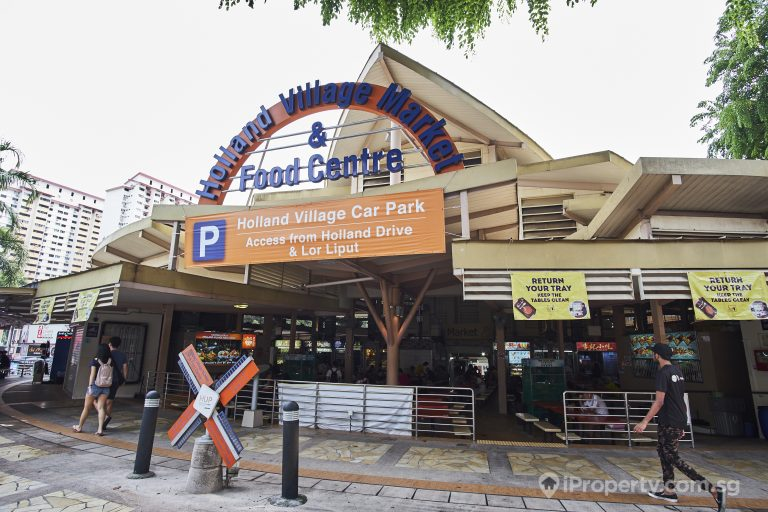 entrance to Holland village market food centre in singapore