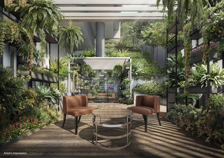 Garden in Haus on Handy condo
