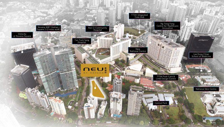 location map of NEU at Novena