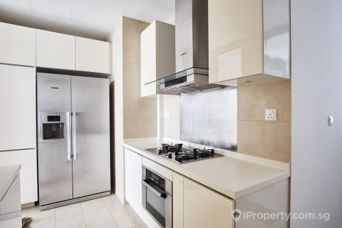 Brightly lit kitchen in a unit of Parvis condo.