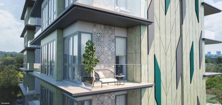 Balcony in Carpmael Thirty-Eight condo