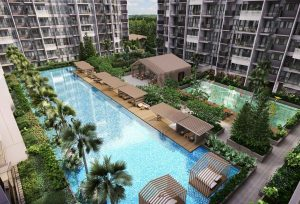 Swimming pool in The Alps Residences.