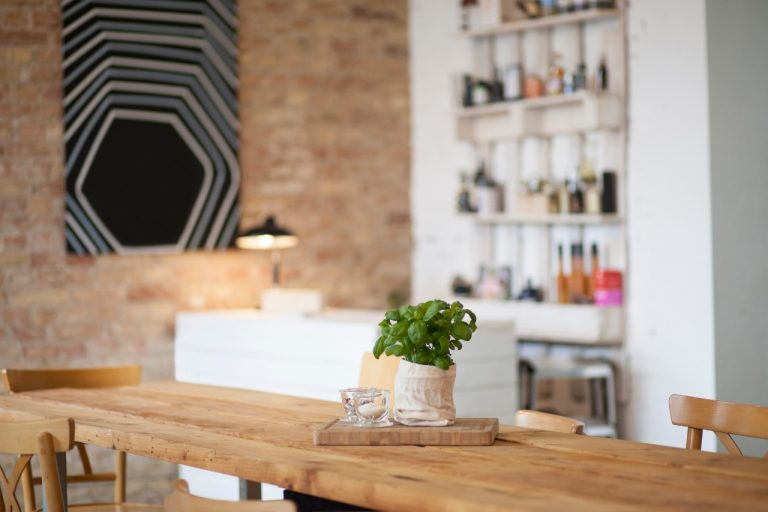 Place a basil plant on your dining table. Picture: Getty