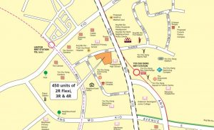 Map view of the BTO available in Ang Mo Kio for November 2019 launch. Picture: HDB