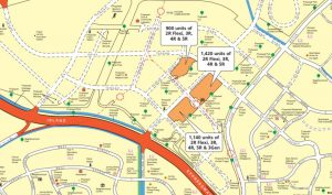 Map view of the BTO available in Tengah for November 2019 launch. Picture: HDB