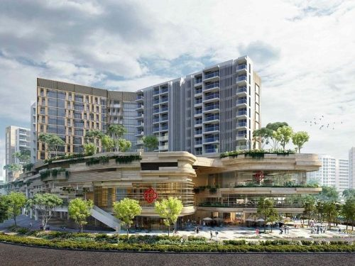Artist impression of Sengkang Grand Residences.