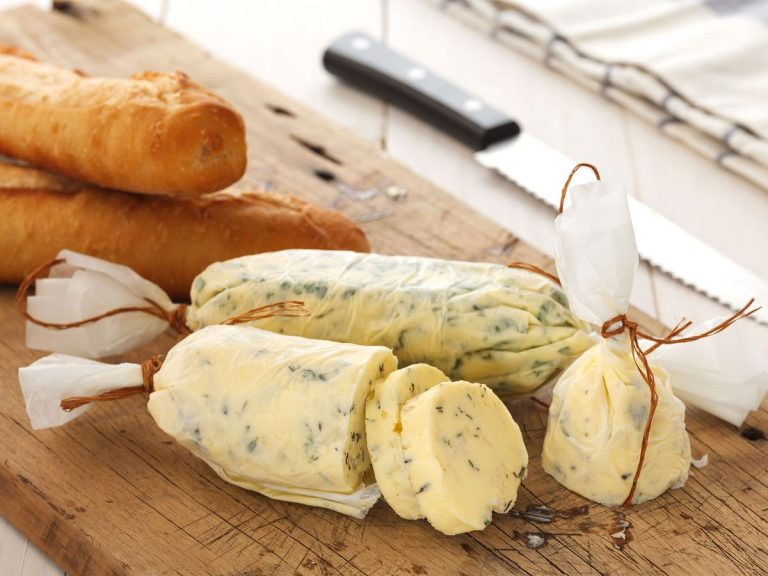 Mixing chopped herbs through butter and storing it in the freezer will save you time next time you're whipping up dinner. Picture: Getty