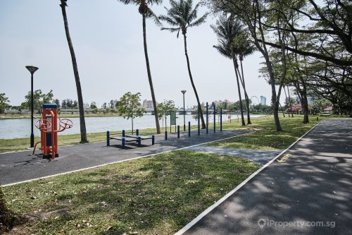 Fitness area in Kallang Riverside Park. Picture: iProperty