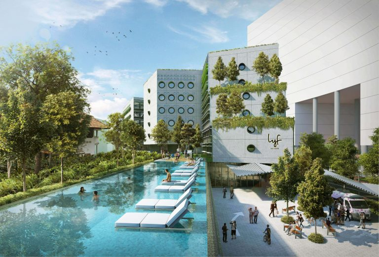 lyf one-north Singapore. Picture: Ascott Residence Trust.