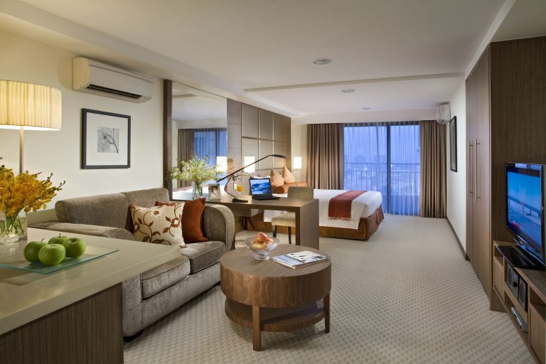 Studio in Somerset Liang Court Singapore. Picture: Ascott Residence Trust.