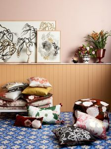 Create cosy layers with soft furnishings. Picture: Bonnie and Neil
