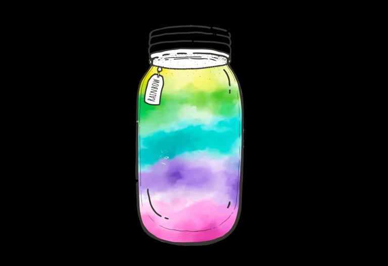 Create a rainbow in a jar.