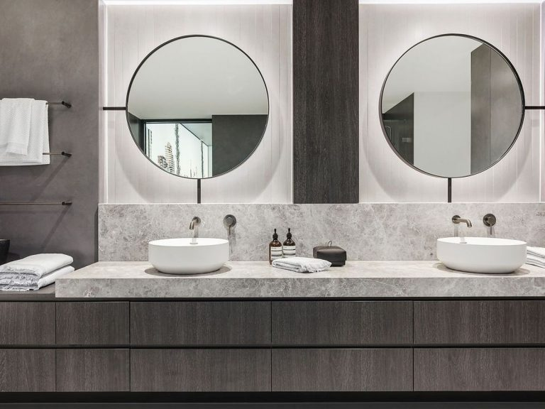 Round mirrors are here to stay in 2020. Picture: realestate.com.au