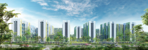 Artist impression of Alkaff Lakeview. Picture: HDB