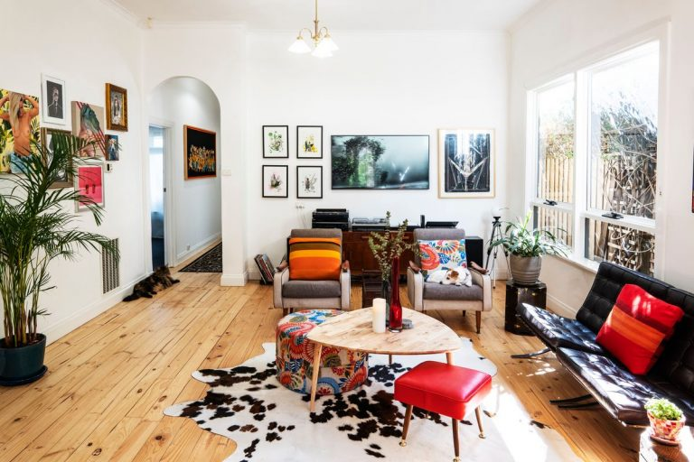 Proof that a vintage space doesn't need to be grandma-infused. Picture: Ross Cameron