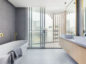 The bathroom is not the place for cushions. Picture: realestate.com.au
