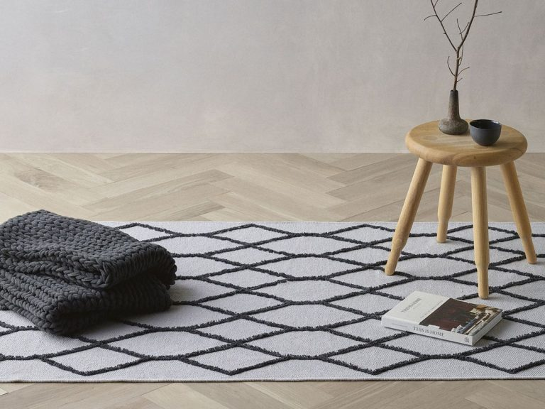 We all had a moment with the diamond monochrome rug. Picture: Aldi
