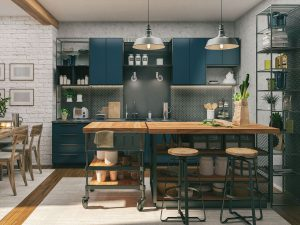 Now is the time to go wild with colour in the kitchen. Picture: Getty