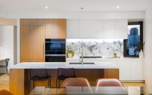 A good island bench anchors the kitchen space, like in this Brisbane apartment. Picture: realestate.com.au