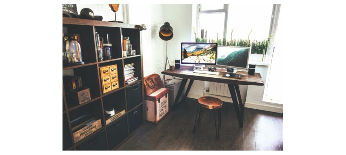 Inspirational industrial workspace