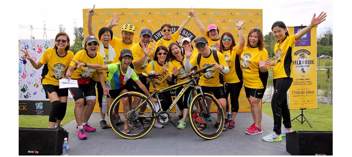 "Tropicana Aman ""Walk & Ride Yellow Event"" draws huge turn out"