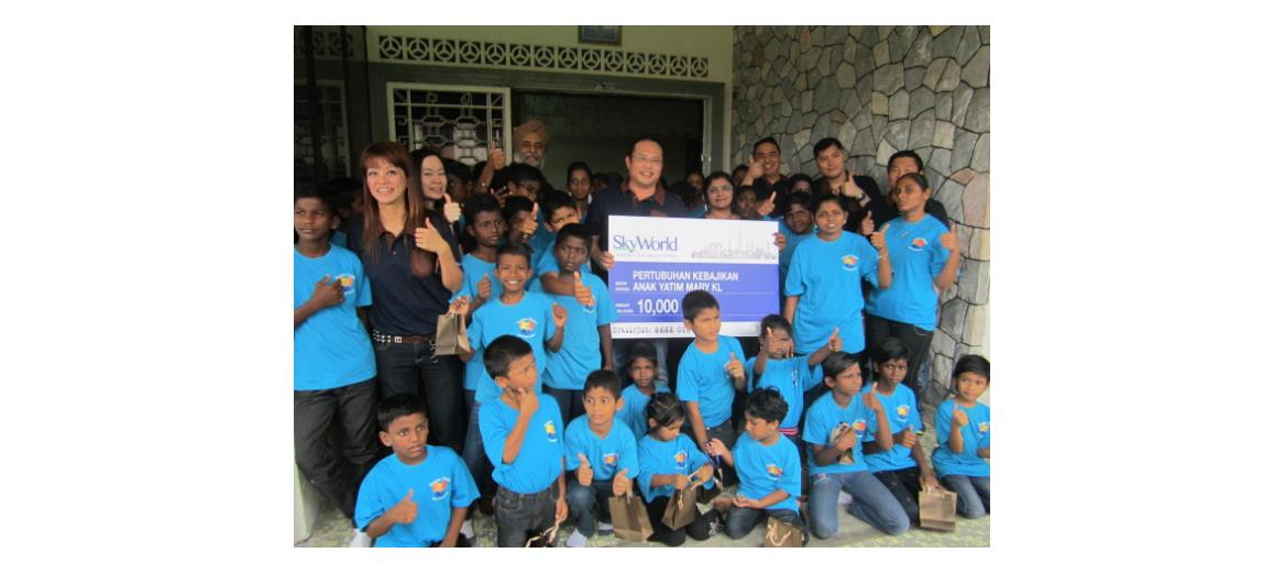 SkyWorld Development Sdn. Bhd. spreads cheer at KL orphanage
