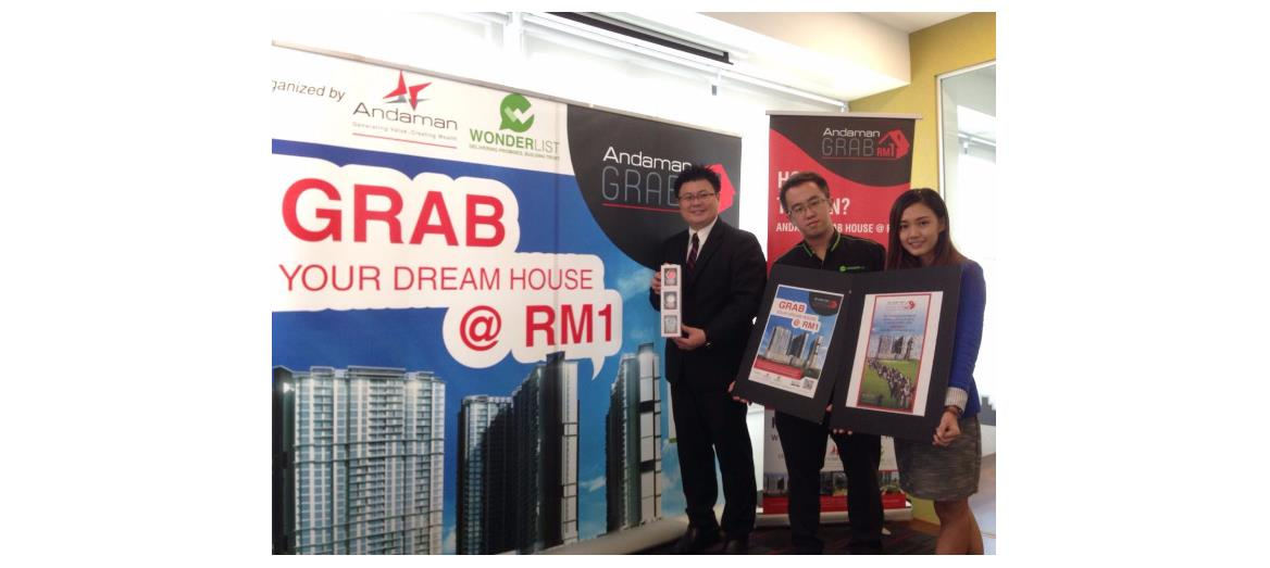 Andaman Group launches Andaman GRAB House @ RM 1 campaign