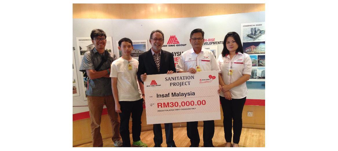 Mah Sing Foundation provides sanitary essentials for Orang Asli families