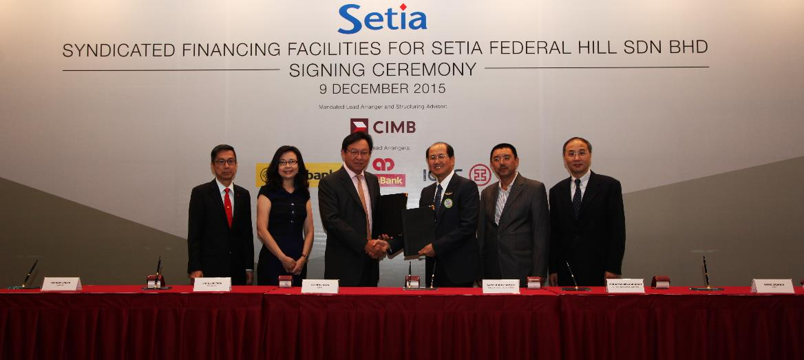 S P Setia Bhd inked RM1.07 billion syndicated financing facilities