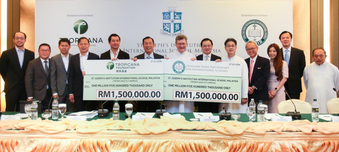 Tropicana Foundation & LAPIS donate a total of RM3 million to St Joseph''s IB Scholarship Programme