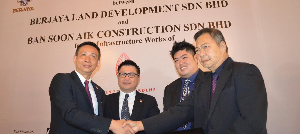Berjaya Land Development Bhd Sdn Bhd signs agreement contract with Ban Soon Aik Construction Sdn Bhd