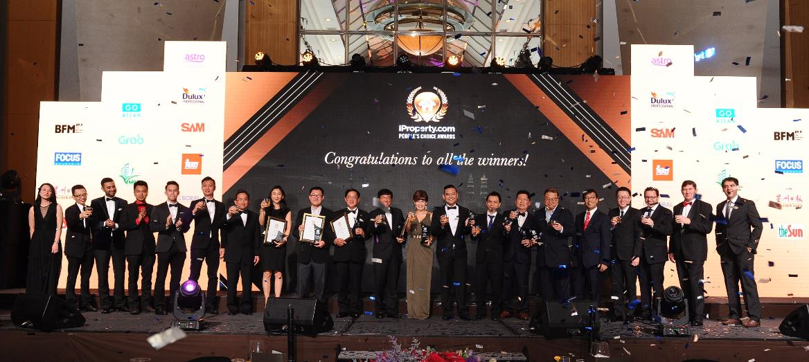 13 Malaysian developers receive recognition at  the 3rd iProperty.com People's Choice Awards 2016