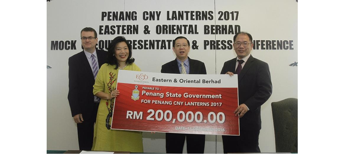 E&O contributes RM200,000 to Penang CNY''s celebrations