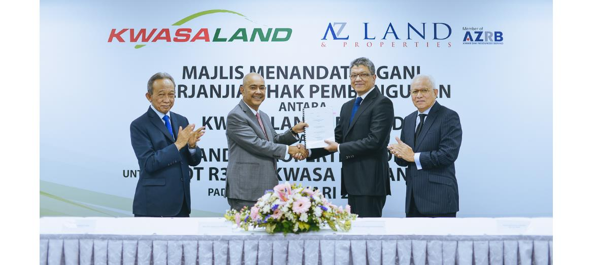 Kwasa Land Sdn Bhd and AZ Land & Properties Sdn Bhd ink Development Rights Agreement for R3-4 in Kwasa Damansara