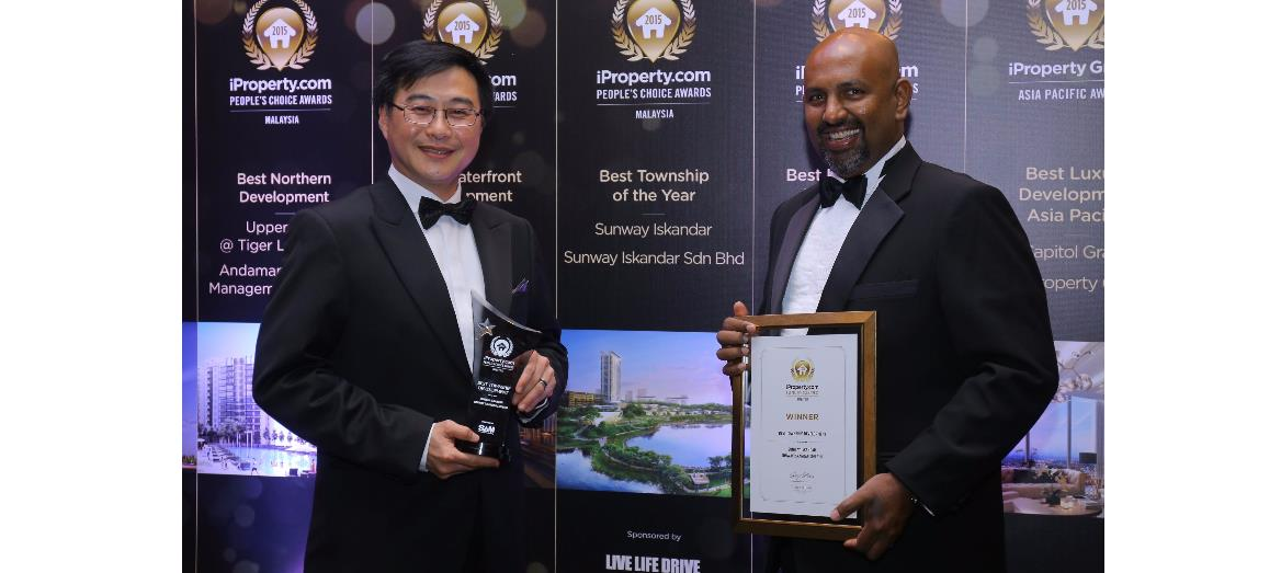 Sunway Iskandar notches a hat trick at iProperty People's Choice Awards 2016