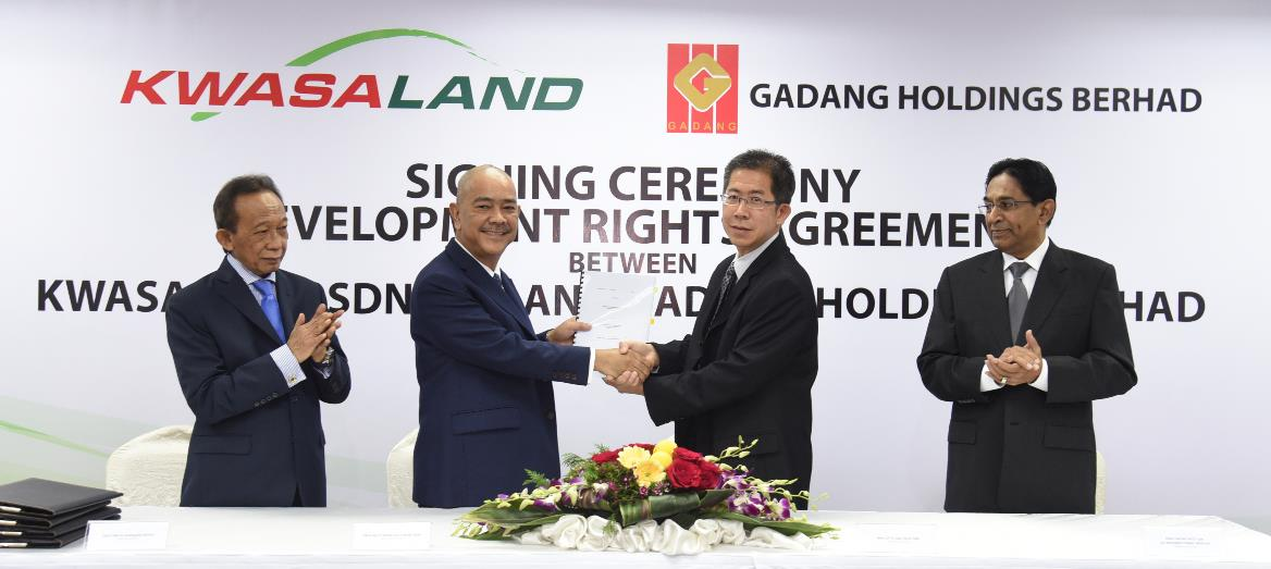 Kwasa Land and Gadang Holdings Berhad ink R3-1 Development Plot for RM165 Million Returns