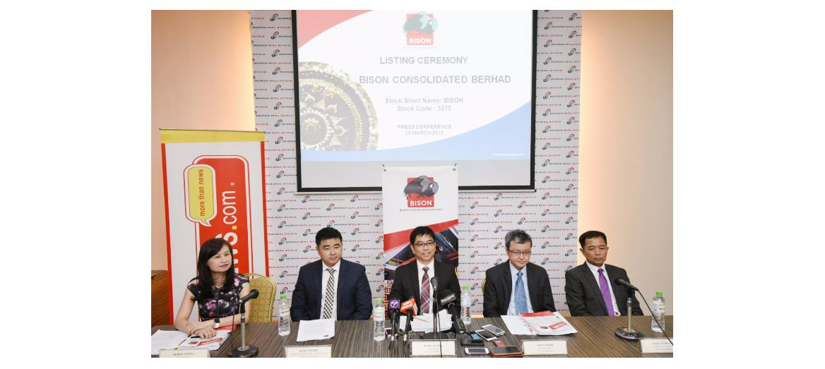 Bison Consolidated Berhad successfully  listed on the Main Market Of Bursa Malaysia